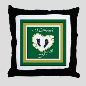 Matthew's Mission Throw Pillow
