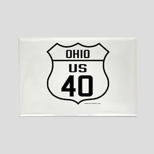 US Route 40 - Ohio Rectangle Magnet