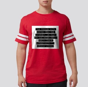 The Problem With Quotes Mens Football Shirt