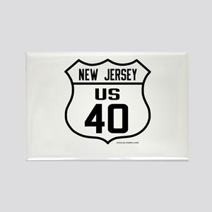 US Route 40 - New Jersey Rectangle Magnet