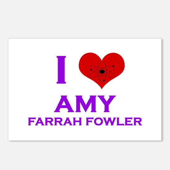 I Heart Amy Farrah Fowler Postcards (Package of 8)