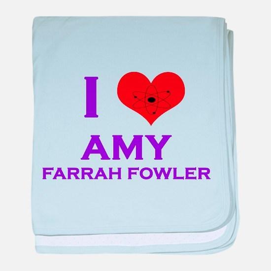 I Heart Amy Farrah Fowler baby blanket