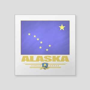 "Alaska (Flag 10) Square Sticker 3"" x 3"""