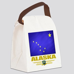 Alaska (Flag 10) Canvas Lunch Bag