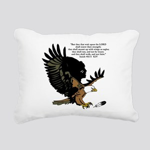 Wings as Eagles Rectangular Canvas Pillow