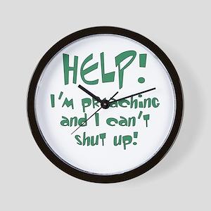 Help! I'm Preaching Wall Clock