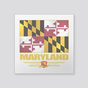 "Maryland (Flag 10) Square Sticker 3"" x 3"""