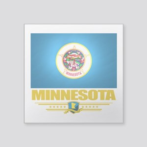 "Minnesota (Flag 10) Square Sticker 3"" x 3"""