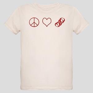 Peace, Love, Revenge Organic Kids T-Shirt