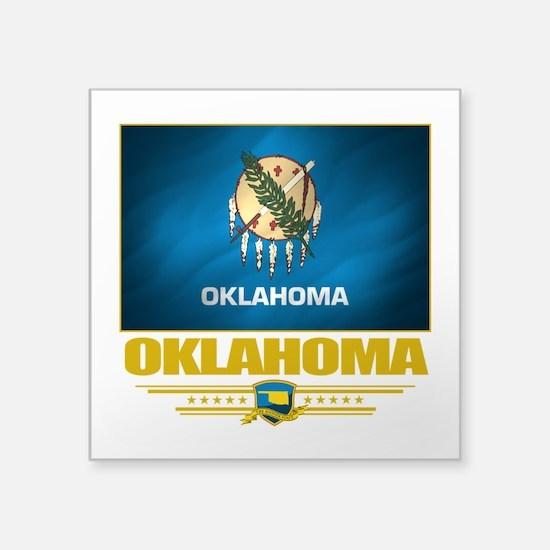 "Oklahoma (Flag 10).png Square Sticker 3"" x 3"""
