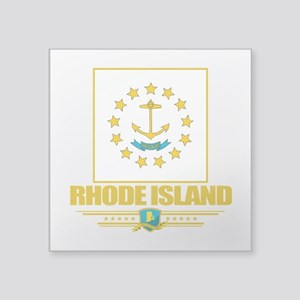 "Rhode Island (Flag 10) Square Sticker 3"" x 3"""