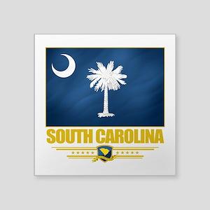 """South Carolina (Flag 10) Square Sticker 3"""" x 3"""
