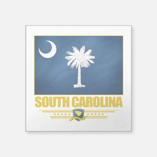 "South Carolina (Flag 10).png Square Sticker 3"" x 3"