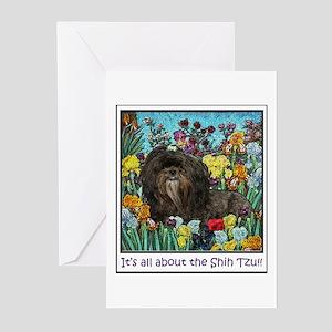 Shih Tzu Fine Art Hershey Bear Greeting Cards (Pac