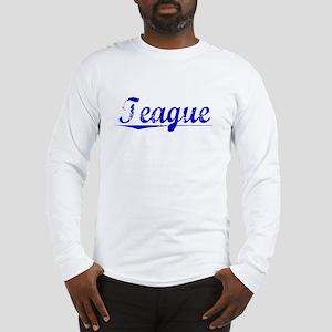 Teague, Blue, Aged Long Sleeve T-Shirt