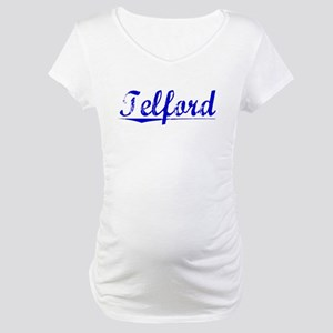 Telford, Blue, Aged Maternity T-Shirt