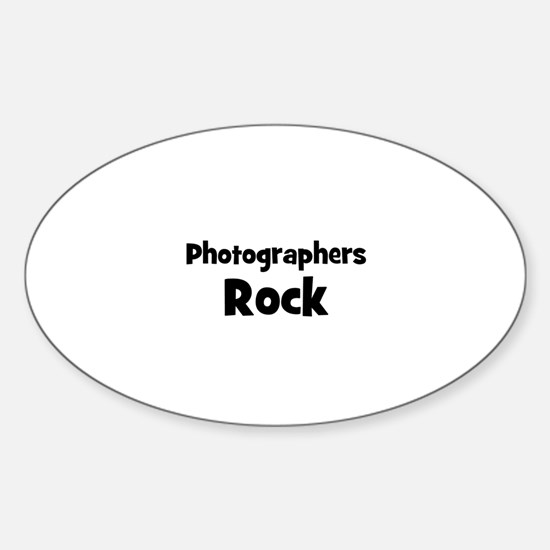 PHOTOGRAPHERS Rock Oval Decal
