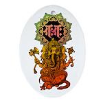 Ganesha bonji 2 Ornament (Oval)