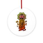 Ganesha bonji 2 Ornament (Round)