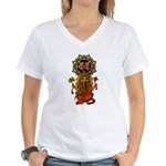 Ganesha bonji 2 Women's V-Neck T-Shirt