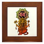 Ganesha bonji 2 Framed Tile