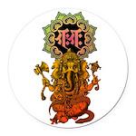 Ganesha bonji 2 Round Car Magnet