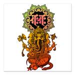 Ganesha bonji 2 Square Car Magnet 3