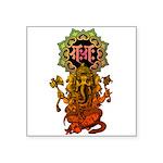 Ganesha bonji 2 Square Sticker 3