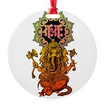Ganesha bonji 2 Round Ornament