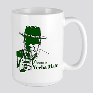 """Powered By Yerba Mate"" Large Mug Mugs"