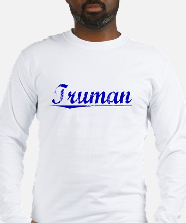 Truman, Blue, Aged Long Sleeve T-Shirt