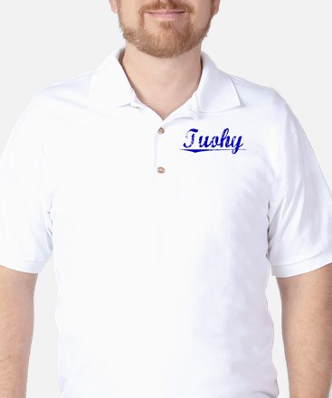 Tuohy, Blue, Aged Golf Shirt