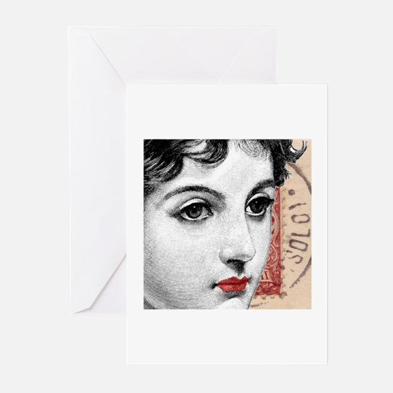 Divas D'Este French Postcard  Greeting Cards (Pack