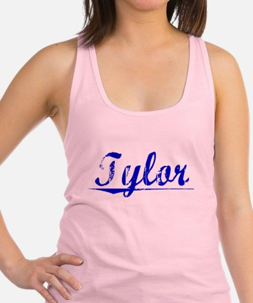 Tylor, Blue, Aged Racerback Tank Top