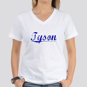 Tyson, Blue, Aged Women's V-Neck T-Shirt