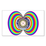 Rainbow Bridge - Rectangle Sticker
