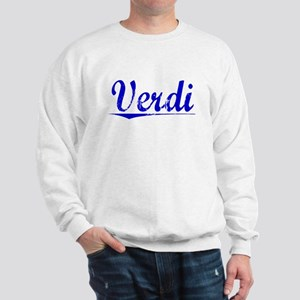 Verdi, Blue, Aged Sweatshirt