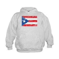 Vintage Puerto Rico Flag Hoodie