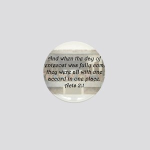 Acts 2:1 Mini Button