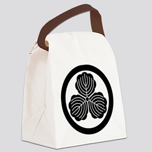 three oak leaves in circle Canvas Lunch Bag