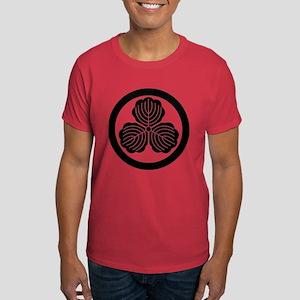 three oak leaves in circle Dark T-Shirt