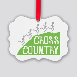 Cross Country Runners Picture Ornament