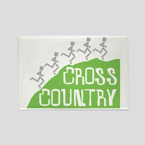 Cross Country Runners Rectangle Magnet