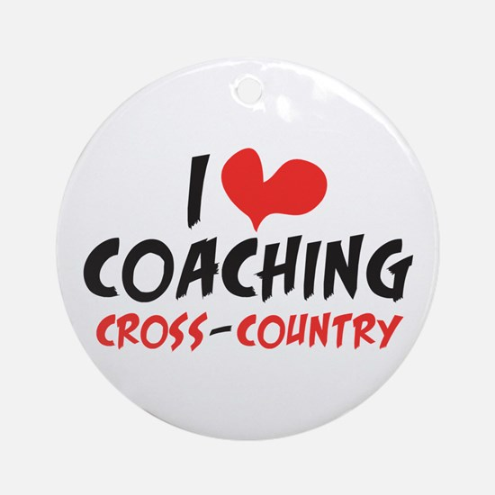 I heart Coaching C-C Ornament (Round)