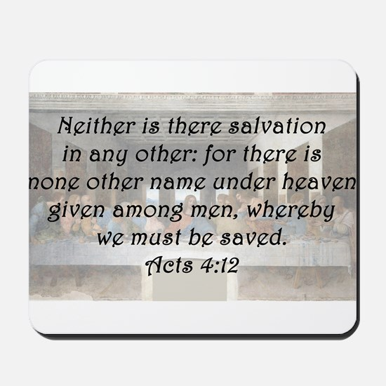 Acts 4:12 Mousepad