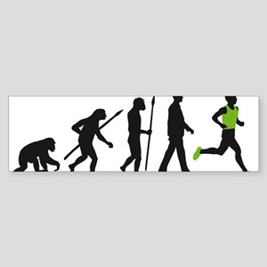 evolution running man Sticker (Bumper)