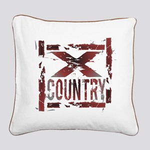 Cross Country Square Canvas Pillow