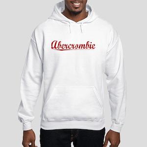 Abercrombie, Vintage Red Hooded Sweatshirt