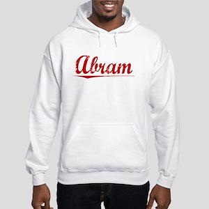 Abram, Vintage Red Hooded Sweatshirt