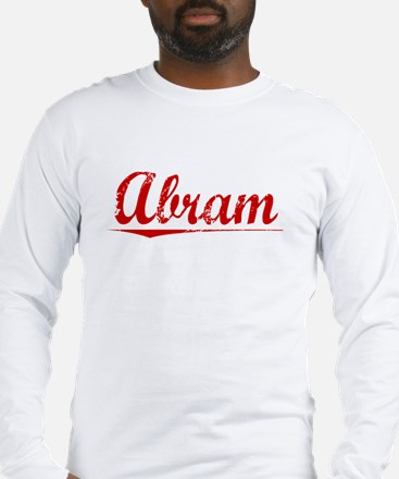 Abram, Vintage Red Long Sleeve T-Shirt